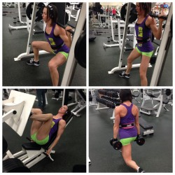 Squats, leg press & walking lunges