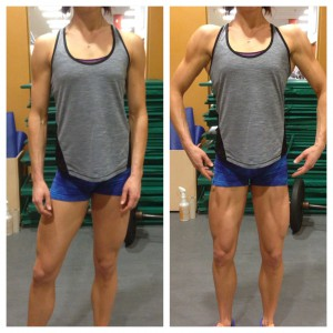 We use posing to strategically highlight our physiques. Relaxed vs. posed changes how I look in 5 seconds.