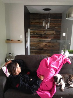 Napping with the puppies between the morning and night show. TKO.