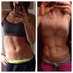The progression from off-season to on-season as body fat is lost.