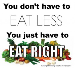 Who wants to eat less??