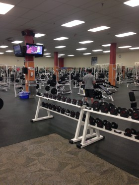 One of the best parts of training in the morning - a huge gym basically to ourselves.