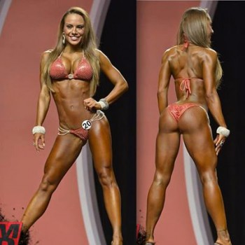 "One of the top ranked bikini pro competitors, who actually comes in more muscular and a little ""harder"" than most bikini girls. Far less muscle definition than the physique category, I wouldn't view this as ""bulky"", but some people might."