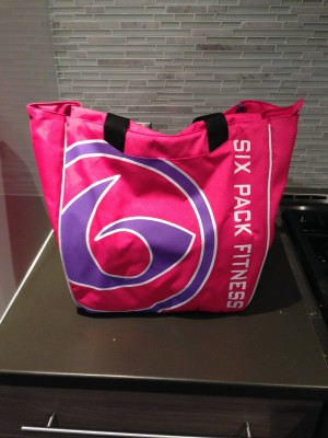The 6Pack Tote bag, which looks stylish (and it's pink!) and holds plenty of stuff...
