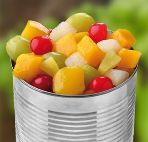 Watch for canned fruit and vegetables which are high in sugar.