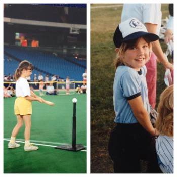 My tee-ball / baseball career was short lived. But, I did get to play in a skills competition on the SkyDome field!