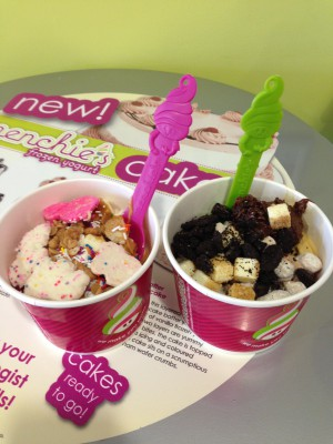His and hers dessert from Menchie's, our absolute favorite. We cheated and had dessert before dinner ;)