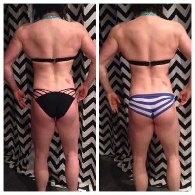 Two weeks back progress, small changes in my glutes.