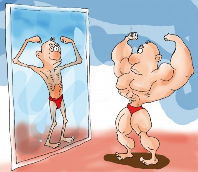 Those with muscle dysmorphia never see their true size, no matter how muscular they are.