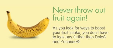 "Yonana calls for ""cheetah"" spotted bananas as the best option to use - the more spots, the better."