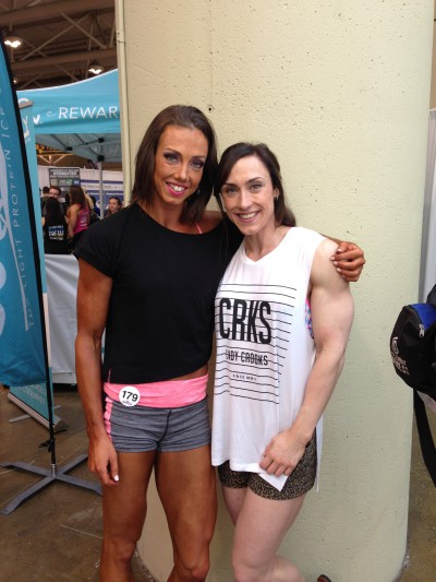 Even though she's from Sudbury, Kristyn and I actually met in Vegas last year. She's a fellow physique competitor prepping for Nationals and looking AMAZING.  It's so nice to have the time to talk about the sport and our personal experiences with someone else who has lived it and understands. It was great seeing her & I can't wait to see what she brings to the stage in six weeks.
