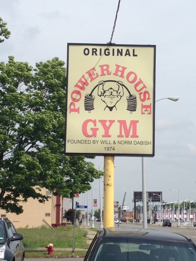 The original Powerhouse gym is just a 10 minute drive across the border from us. If you think you're big and fit, visit this gym for a reality check! The men here are all massive, and super friendly.