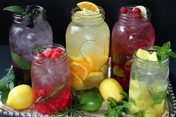 Staying hydrated all day is a great way to detox your body, adding fruit, vegetables, and herbs to your water can help boost the flavor and even add extra nutrients to your day.