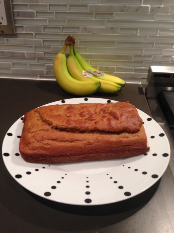 My all-time favorite thing to make - banana protein bread. And yes, my photography / food staging skills are outstanding - Kyle would be embarrassed.